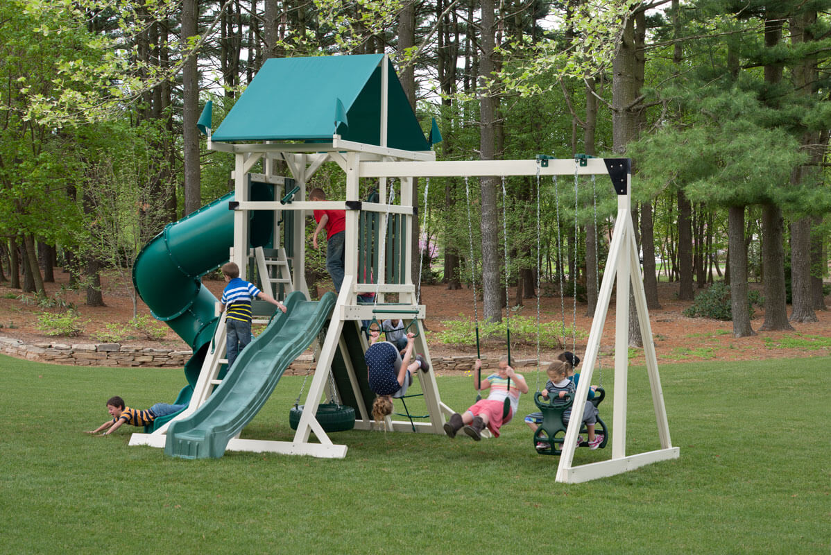 Best Deluxe Classic Tower Vinyl Swingset Weaver Playsets